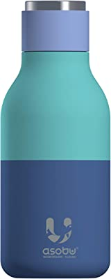 Urban Insulated and Double Walled Stainless Steel Bottle 16 Ounce by Asobu (Pastel Blue)