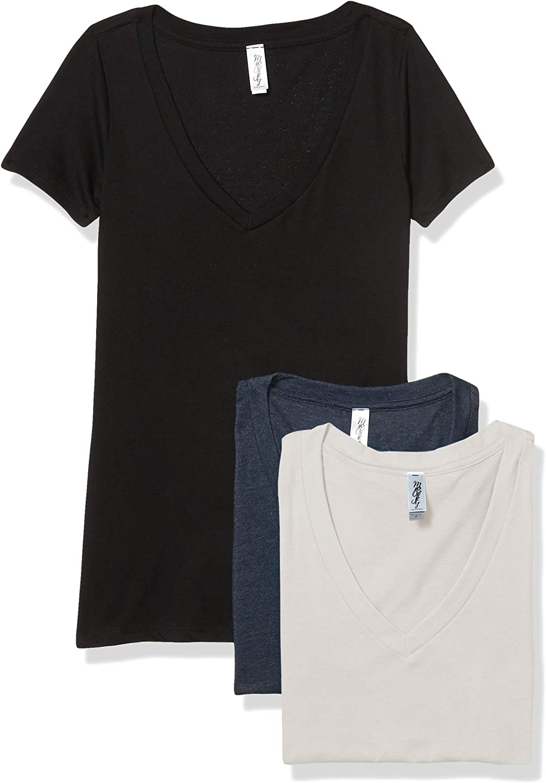 Marky G Apparel Women's CVC Deep Sleeve V-Neck T-Shirt Short Omaha Mall Tee Seattle Mall