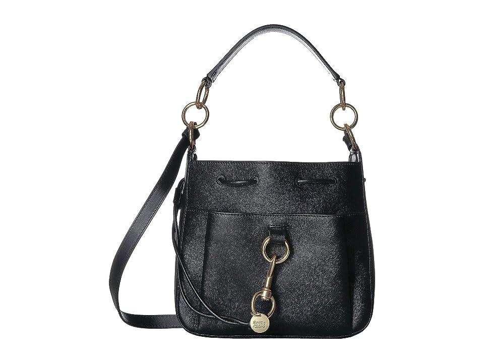 See by Chloe Drawstring Leather Crossbody Bag (Black) Handbags