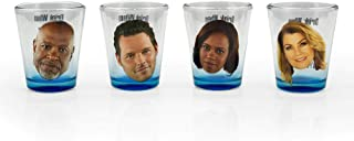 Surreal Entertainment Grey's Anatomy Party Drinking Game | Set of 4 Official Collectible Character Shot Glasses | 2 Ounces Each