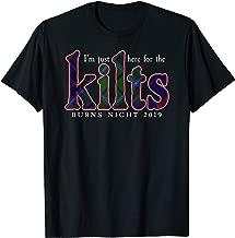 Robert Burns Poetry Legacy Tartan Burns Supper Night Kilt T-Shirt