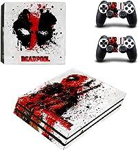 Adventure Games PS4 PRO - Deadpool - Playstation 4 Vinyl Console Skin Decal Sticker + 2 Controller Skins Set