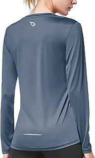 Women's Long Sleeve UV Shirts Quick Dry Running Workout Shirts