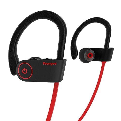 f354071f93b Auriculares Bluetooth HolyHigh Yuanguo2 Impermeable IPX7 Cascos  Inalámbricos Deportivos Mini con Micrófono Cancelación de Ruido CVC6