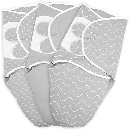 Enveloppe bébé TALINU en 100% coton jersey, avec fermeture velcro, taille S : 0-3 mois, couverture wrap, couverture enveloppante