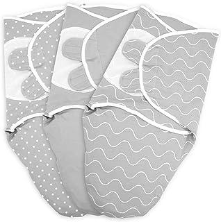 Enveloppe bébé TALINU en 100% coton jersey, avec fermeture velcro, taille S : 0-3 mois, couverture wrap, couverture envelo...