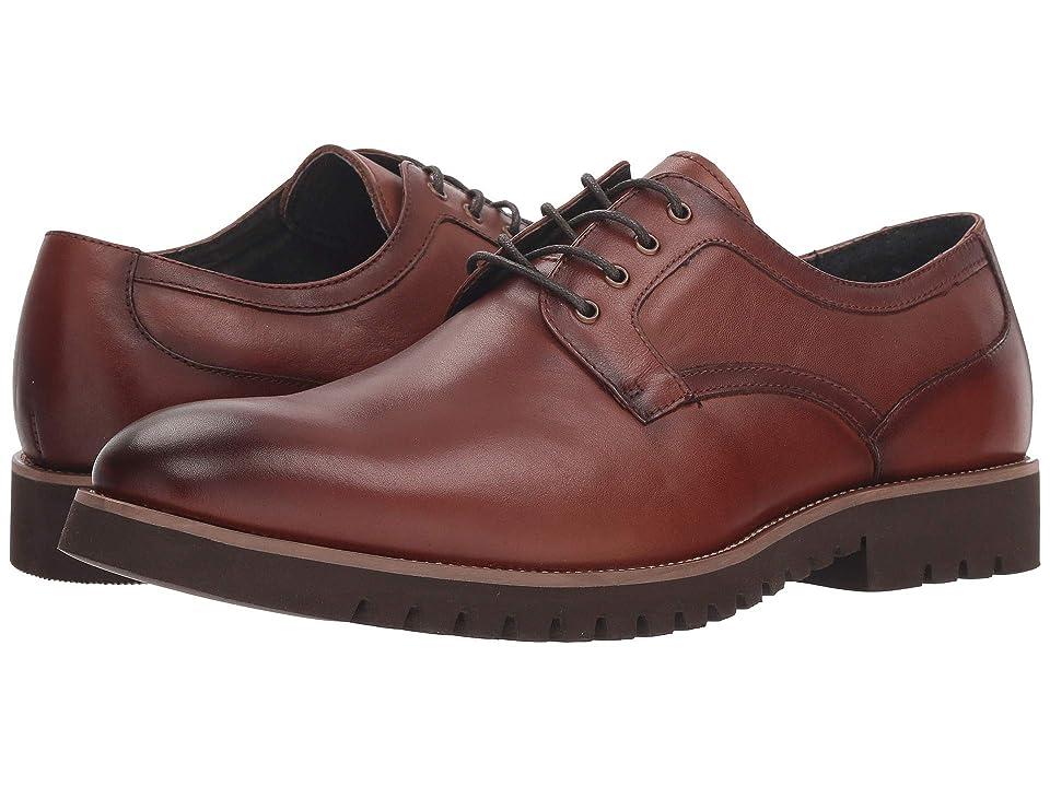Stacy Adams Barclay Plain Toe Lace Up Oxford (Cognac) Men