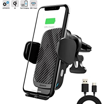 Car Phone Holder GPS Bracket // S8 Note//Phone 11pro // Xs//XR//XS MAX // 8 // 8Plus // etc A5 red Smart Sensor Mobile Phone Mount Compatible with Galaxy S10 QI Wireless Fast Charging // S9