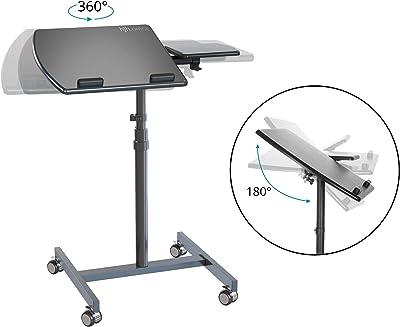 hjh Office 802110 Vm-SL Bureau d'ordinateur Portable Pivotant et Réglable en Hauteur avec Repose-Souris