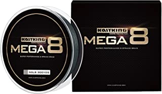 KastKing Mega8 Braided Fishing Line, Advanced 8 Strand Construction - Rounder, Stronger, Softer, Smoother, More Sensitive, Casts Farther, Zero Stretch & Memory, Great Knot Strength, More Color Fast