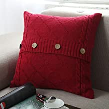 Nuvole Knitted Decorative Pillow Cover, Décor Your Couch Sofa, Soft & Cozy Throw Pillow Cover Case for 20x20 Insert(Pillow Cover only, no Insert)