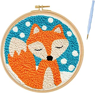 Full Set DIY Rug Hooking Embroidery Yarn Punch Needle Kit with Patterns Cat Creative Gift//Toys for Kids Girls RuiyiF Latch Hook Rug Kits for Kids Beginner Easy Preprinted