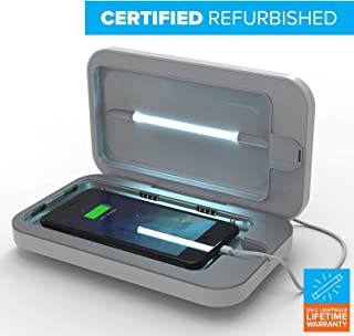 Certified Refurbished - PhoneSoap 3 UV Cell Phone Sanitizer and Dual Universal Cell Phone Charger | Patented and Clinically Proven UV Light Sanitizer | Cleans and Charges All Phones - White