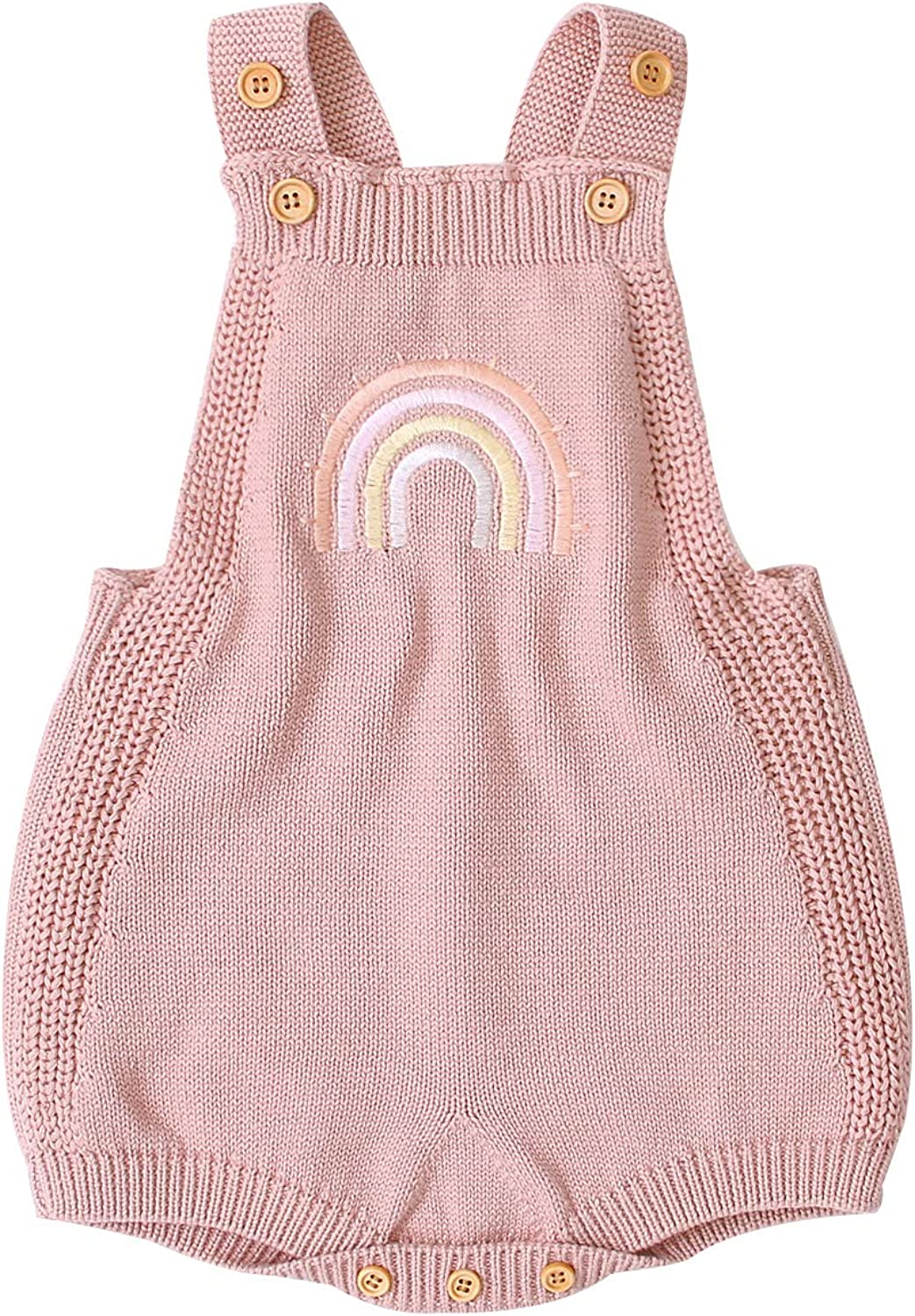 mimixiong Baby Romper Max 82% OFF Girls Knitted Sleeveless Jumpsuit Piec One Max 49% OFF
