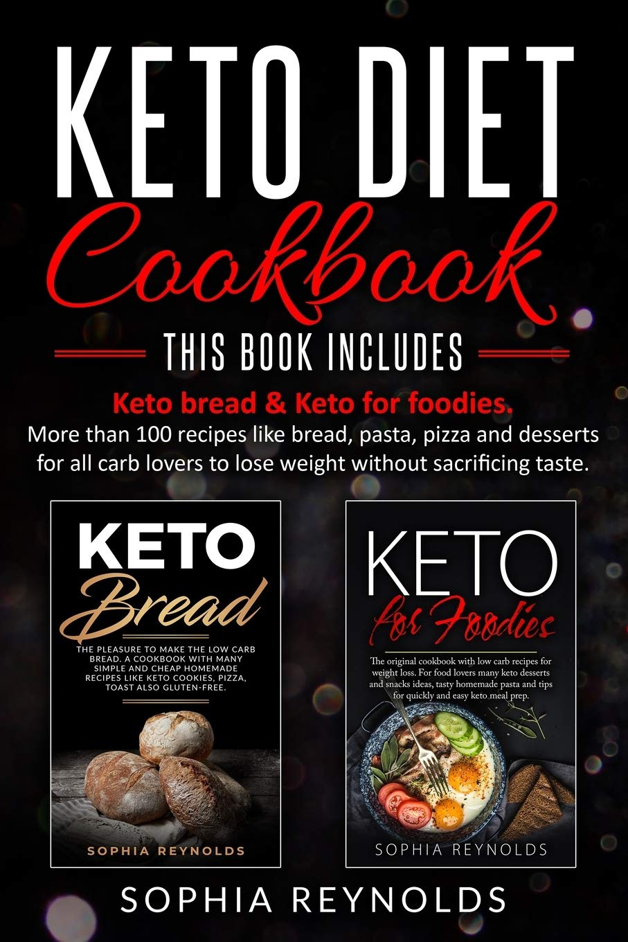 Image OfKeto Diet Cookbook: 2 Manuscripts - Keto Bread & Keto For Foodies. More Than 100 Recipes Like Bread, Pasta, Pizza And Dess...
