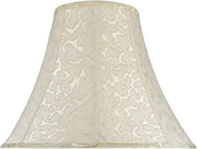 "Aspen Creative 30111 Transitional Bell Shape Spider Construction Lamp Shade in Off White, 18"" wide (8"" x 18"" x 14"")"