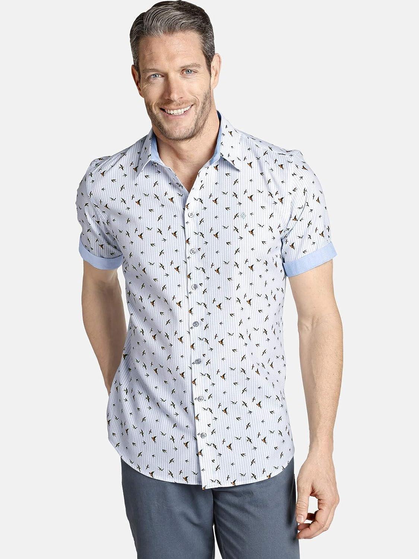 Charles Colby Oberon - Camisa de manga corta para hombre (camiseta de ocio, estampado de pájaros)