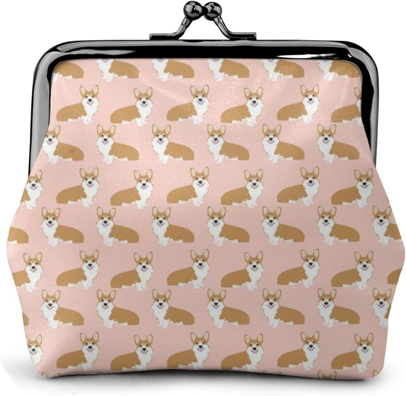Corgi Corgis Girls 1692 Leather Coin Purse Kiss Lock Change Pouch Vintage Clasp Closure Buckle Wallet Small Women Gift
