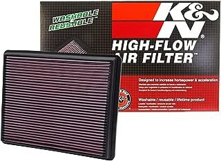 K&N engine air filter, washable and reusable: 1999-2019 Chevy/GMC Truck and SUV V6/V8 (Silverado, Suburban, Tahoe, Sierra, Yukon, Avalanche) 33-2129