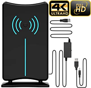 Updated 2019 Version Professional 75-150 Miles TV Antenna, Indoor TV Digital HD Antenna 4K HD Freeview Life Local Channels All Type Television