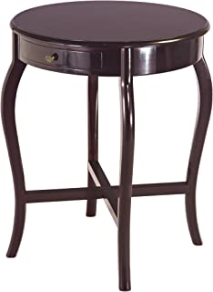 Frenchi Home Furnishing Round End Table, Espresso