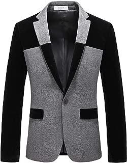 Men's 1 Button Center Vent Wool Blend Blazer Jacket