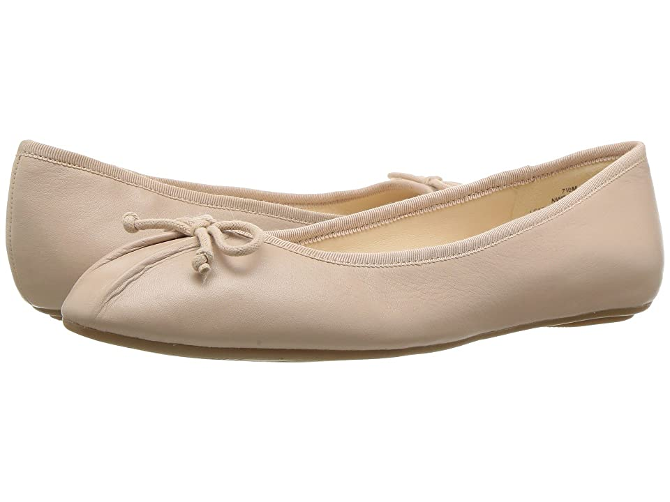 Retro Vintage Flats and Low Heel Shoes Nine West Batoka Ballerina Flat Natural Leather Womens Shoes $59.00 AT vintagedancer.com