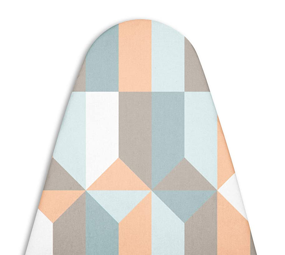 Encasa Homes Replacement Ironing Board Cover with Extra Thick Pad, Standard (Fits Large Boards 15x54 inch) Elasticated, Heat Reflective, Scorch & Stain Resistant, Durable - Blocks