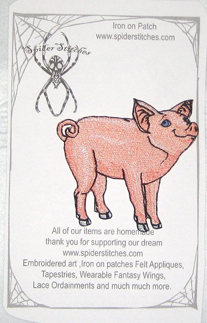 Cute Pink Pig Piglet Iron on patch