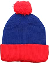 1611MAIN The Two Tone Thick Knitted Cuffed Winter Pom Beanie