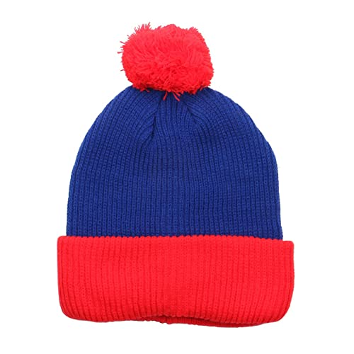 e54c5f44eb4 1611MAIN The Two Tone Thick Knitted Cuffed Winter Pom Beanie