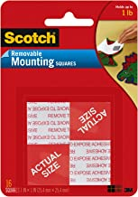 3M 108 Scotch Removable Mounting Squares, 1