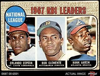 1968 hank aaron baseball card