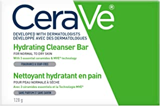 CeraVe Hydrating Cleansing Bar Soap-Free Body and Face Cleanser Bar with Hyaluronic Acid and Ceramides Fragrance Free & No...