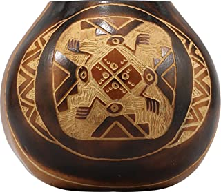 The Mate Factor Assorted Carved Gourd from Argentina - 1 Piece