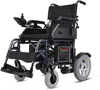 Sillas de ruedas eléctricas para adultos Silla de ruedas eléctrica Luz plegable portátil de energía Montar gratis for los ancianos, discapacitados y hemiplejía pacientes, puede soportar 100 kg Transpo