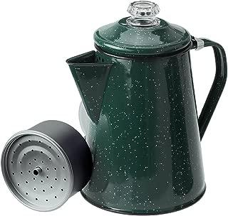 GSI Outdoors 12 Cup Enamelware Classic Percolator for Campsite, Cabin, RV, Farmhouse Kitchen, Green