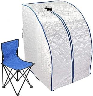 Chaneau Sauna Infrarouge 1 place 1000W Portable Sauna Thérapeutique Infraroug Pliable (saunabox)