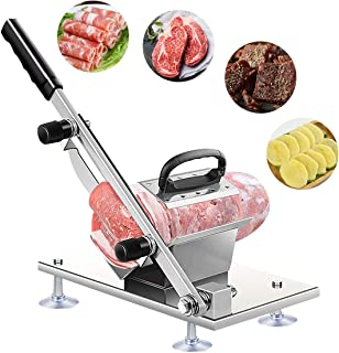 Manual Frozen Meat Slicer Stainless Steel Household Slicing Machine Cutter Beef Mutton Roll Meat Cheese Food Slicer Vegeta...
