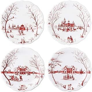 Juliska Country Estate Winter Frolic Party Plates Set/4