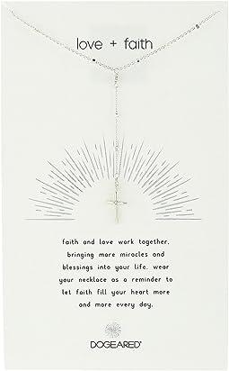 Love + Faith, Cross Rosary Necklace