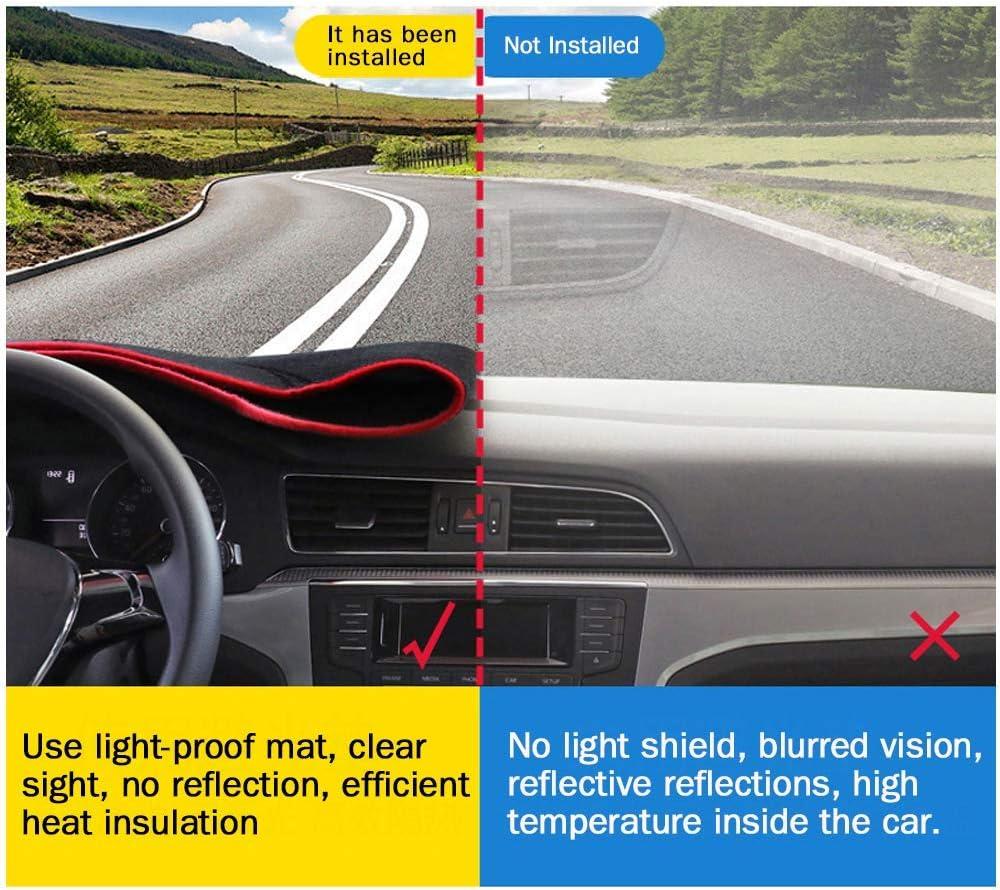 2018 Auto Dashboard Pad DashMat Dash Board Cover SureKit Car Custom Dash Cover for KIA Forte 2009-2017 red line