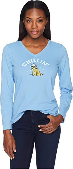 Chillin' Rocket Crusher Long Sleeve Vee