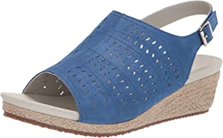 Propet Women's Marlo Espadrille Wedge Sandal, Blue, 6 Wide