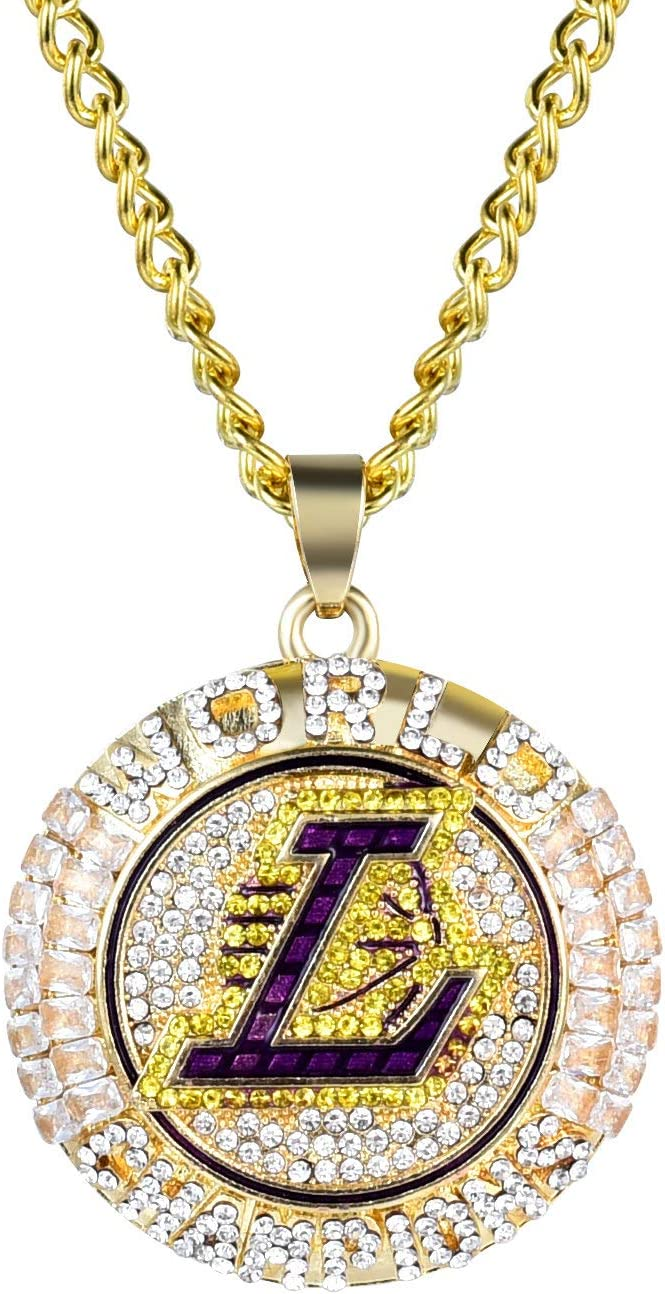 2021 model 2020 Lakers Championship Necklace Version Genuine Pendant Official