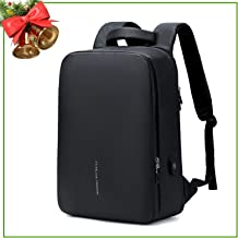Business Laptop Backpack, Anti Theft Professional Notebook Backpack with USB Charging Port, Slim Water Resistant College School Computer Bag for Men Fits Dell XPS 15 15.6 Inch