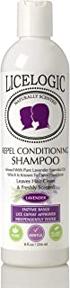 LiceLogic Head Lice Prevention Shampoo | Non Toxic Treatment for Kids Safe for Daily Use | Repels Super Lice, Eggs and Nits Naturally with No Harsh Chemicals | 8 oz Lavender