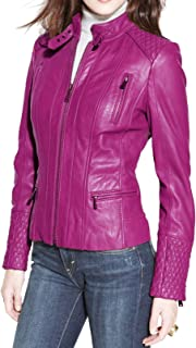 SKINOUTFIT Womens Leather Jacket Stylish Motorcycle Biker Genuine Lambskin 34