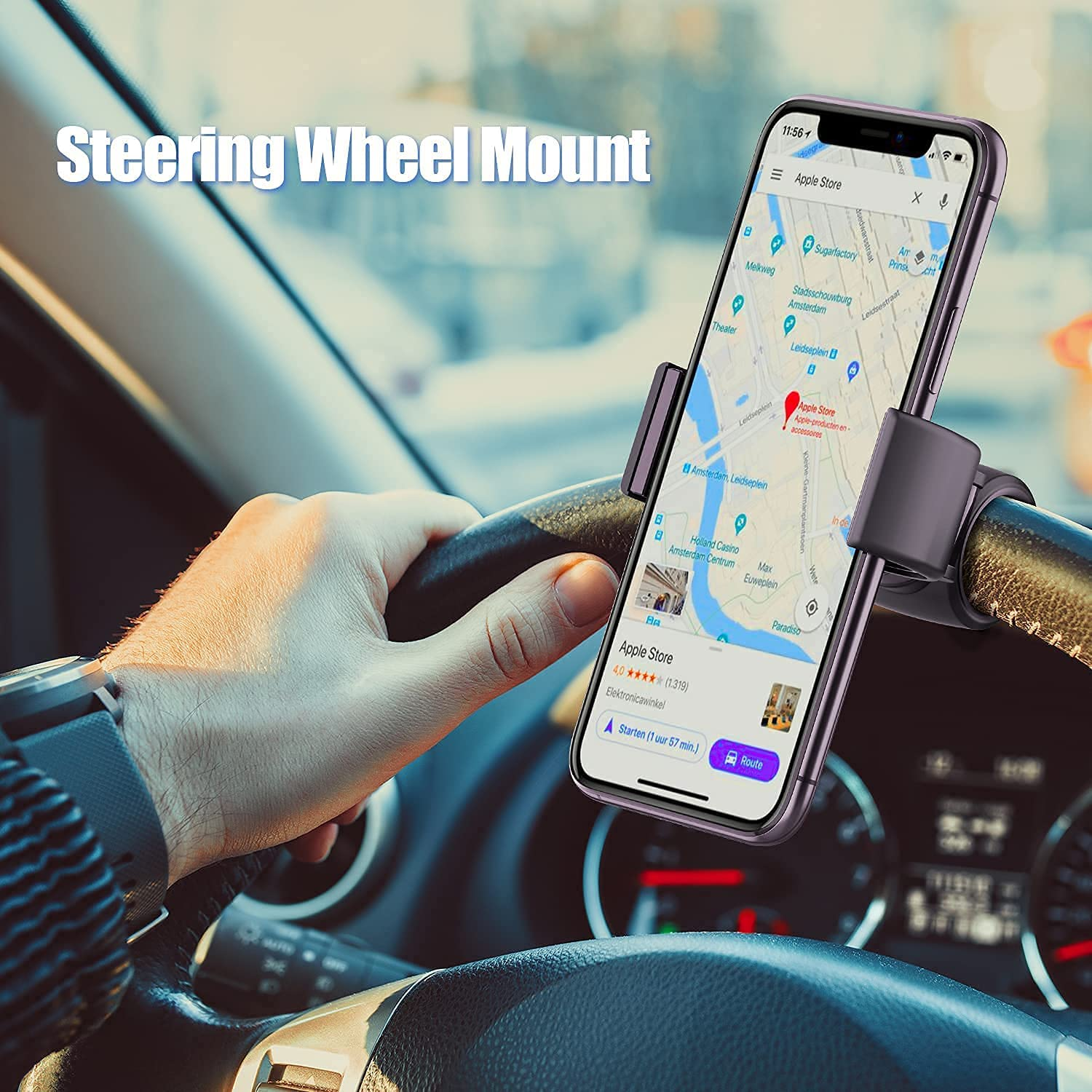 WixGear Steering Wheel Phone Holder for Toyota Tundra