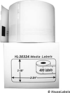 """50 Rolls; 400 Labels per Roll of Compatible with DYMO 30324 Media Labels (2-1/8"""" x 2-3/4"""") - BPA Free!"""